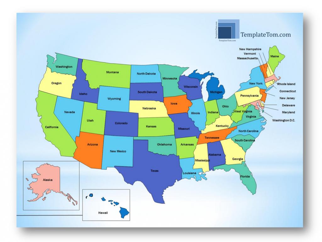 Free USA States map